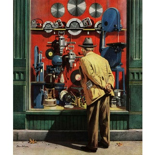 Marmont Hill - Power Tool Window Shopping by Stevan Dohanos Painting Print on Canvas