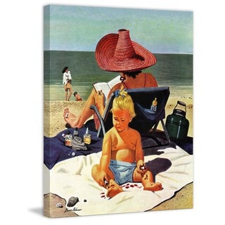 Marmont Hill - Baby & Nail Polish by Stevan Dohanos Painting Print on Canvas