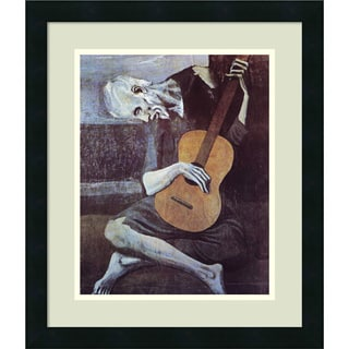 Pablo Picasso 'The Old Guitarist, 1903' 17x20-inchFramed Art Print