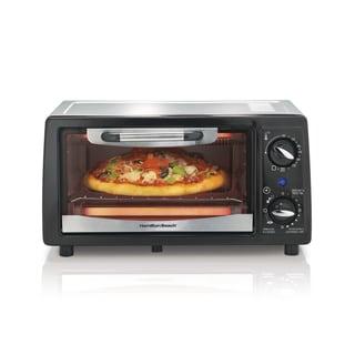 Hamilton Beach Black 4-slice Toaster Oven w/ Broiler