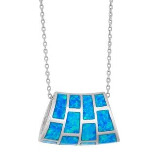 La Preciosa Sterling Silver Opal Designed Necklace