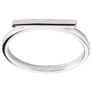 La Preciosa Sterling Silver Thin Horizontal Bar Ring