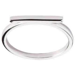La Preciosa Sterling Silver Thin Horizontal Bar Ring (More options available)