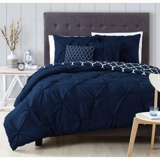 Vcny Carmen 4 Piece Queen Size Comforter Set In Navy As
