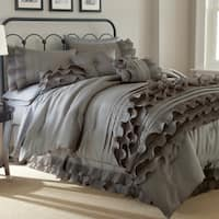 Anastacia 8-piece Queen Size Embellished Comforter Set in Pearl White (As Is Item)