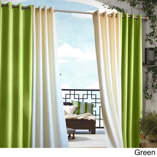 Gazebo Grommet Top 96 inch Indoor/ Outdoor Curtain Panel ...