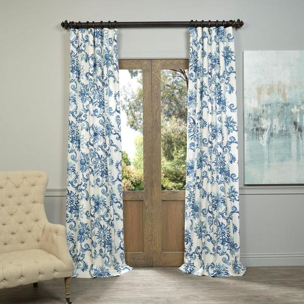 Blue And White Curtains Target French Floral Curtains
