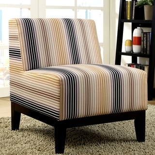 Milan Piero Artistic Multi Color Patteren Design Slipper Accent Chair