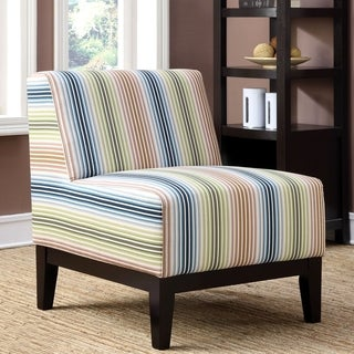 Milan Enrico Artistic Multi Color Patteren Design Slipper Accent Chair