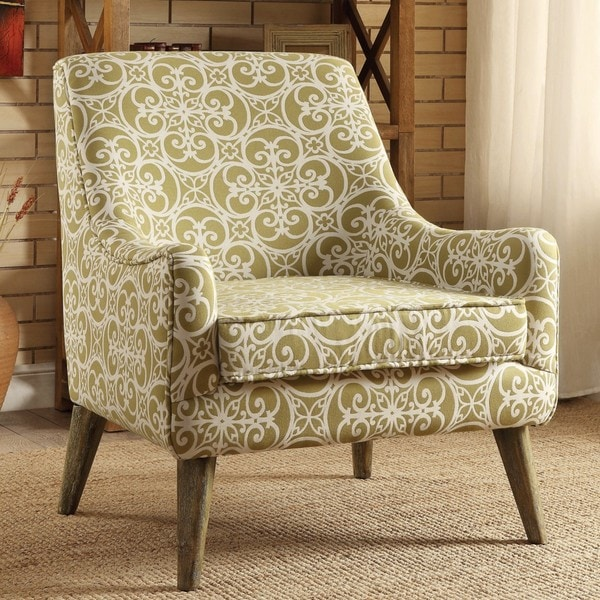 monoco estate green patterened living room accent chair free