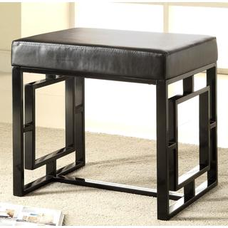 Princeton Decorative Design Black Metal  Base Accent Bench Ottoman