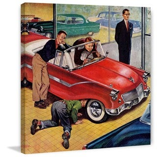 Marmont Hill - Automobile Showroom by Amos Sewell Painting Print on Canvas