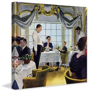 Marmont Hill - 'Taking Mom to Lunch' by George Hughes Painting Print on Canvas - Multi-color