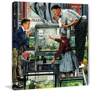 Marmont Hill - 'Fish Aquarium' by Stevan Dohanos Painting Print on Canvas