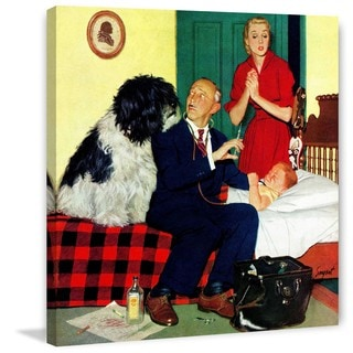 Marmont Hill - 'Dr. and the Dog' by Richard Sargent Painting Print on Canvas