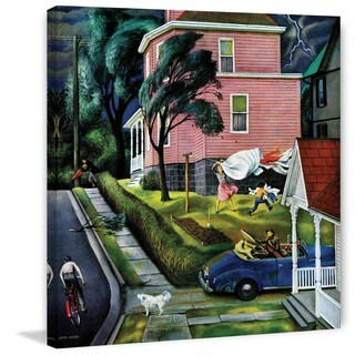 Marmont Hill - 'Spring Storm Blowing In' by John Falter Painting Print on Canvas