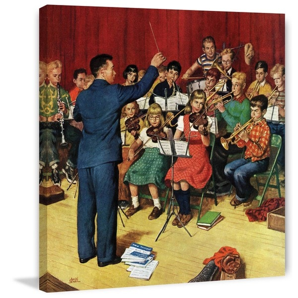 Marmont Hill - 'School Orchestra' by Amos Sewell Painting Print on Canvas