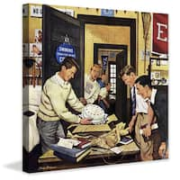Marmont Hill - 'Package from Home' by Stevan Dohanos Painting Print on Canvas - Multi-color
