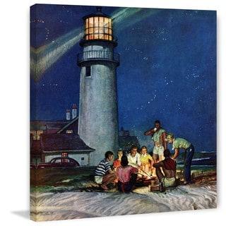 Marmont Hill - Handmade Beach Bonfire Painting Print on Canvas
