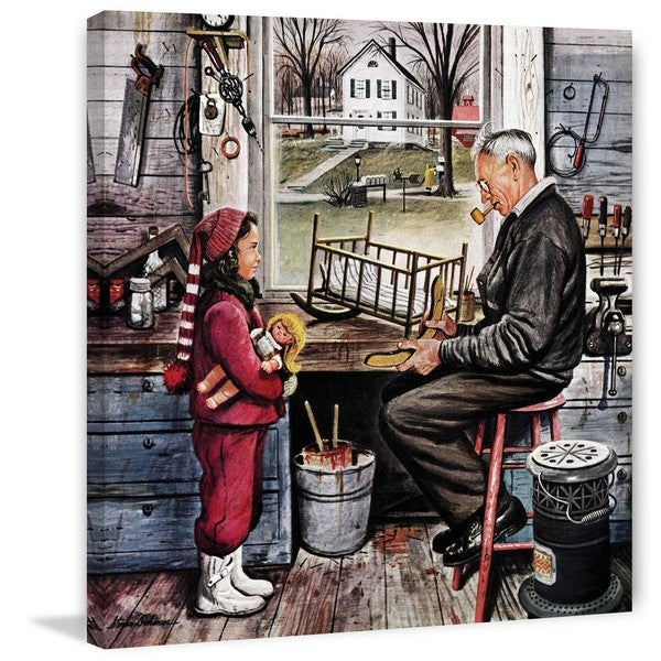 Marmont Hill - 'Grandpa's Workshop' by Stevan Dohanos Painting Print on Canvas