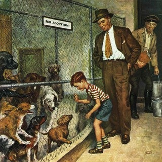 Marmont Hill - 'Dog Pound' by Amos Sewell Painting Print on Canvas