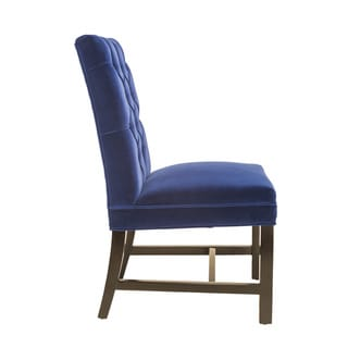 Sunpan 'Club' Orwalk Dining Chair - Giotto Navy Fabric