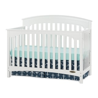 Child Craft Stanford Matte White 4-in-1 Convertible Crib