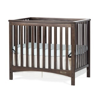 Child Craft London Euro Mini 2 In 1 Convertible Crib And Mattress
