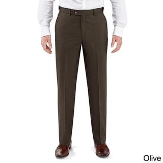 Winthrop and Church Men's Plain Front Black Dress Pants
