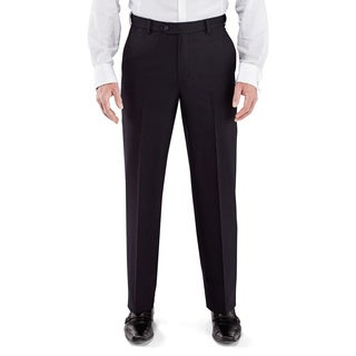 Winthrop and Church Men's Plain Front Black Dress Pants