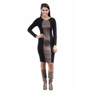 24/7 Comfort Apparel Women's Two-Tone Sheath Dress
