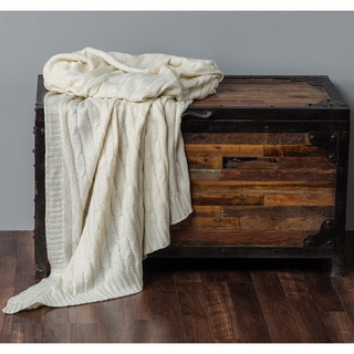 Radiance Cable Knit Luxury Throw Collection by Rizzy Home