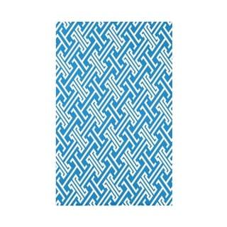 Leeward Key Geometric Throw Blanket