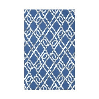 Know the Ropes Geometric Throw Blanket