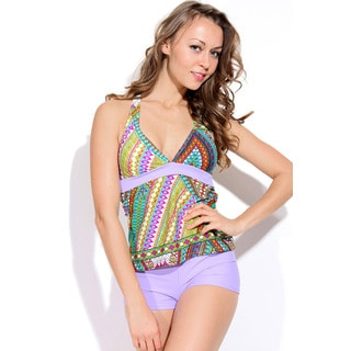 Dippin Daisy's Multicolor Diamonds Halter Boyshort Tankini