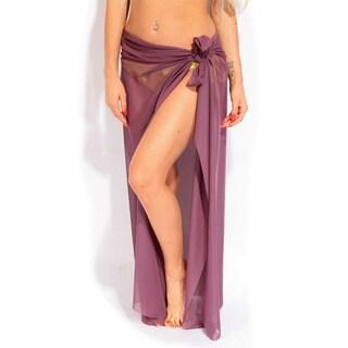 Purple Long Sheer Sarong