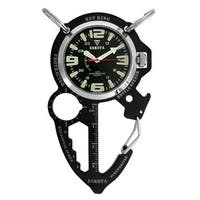 Dakota Men's Black ION Multi Tool Clip Watch - Silver