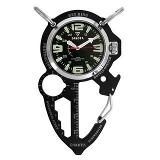 Dakota Men's Black ION Multi Tool Clip Watch - Silver