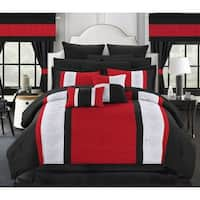 Porch & Den Isla Red 24-piece Bed in a Bag with Sheet Set