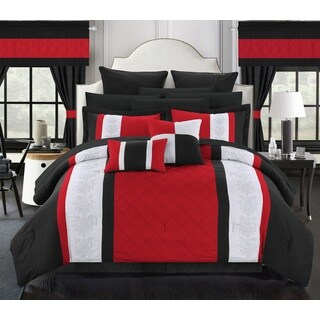 Oliver & James Marclay Red 24-piece Bed in a Bag