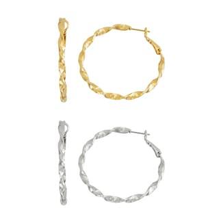 Isla Simone- GOLD TWISTED HOOP - 40MM - SILVER TWISTED HOOP 40MM