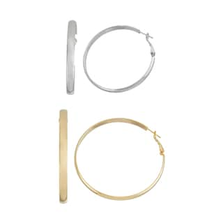 Isla Simone- SILVER ROUNDED HOOP - 50MM - GOLD ROUNDED HOOP - 60MM