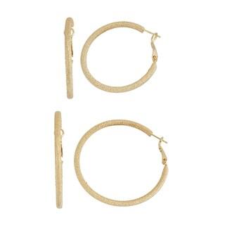 Isla Simone- GOLD DIAMOND CUT HOOP - 40MM/50MM