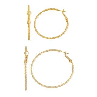 Isla Simone- GOLD SPIRAL HOOP - 40MM/50MM