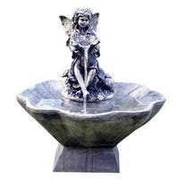 Solar Flower Fairy and Bowl Water Fountain with Water Pump