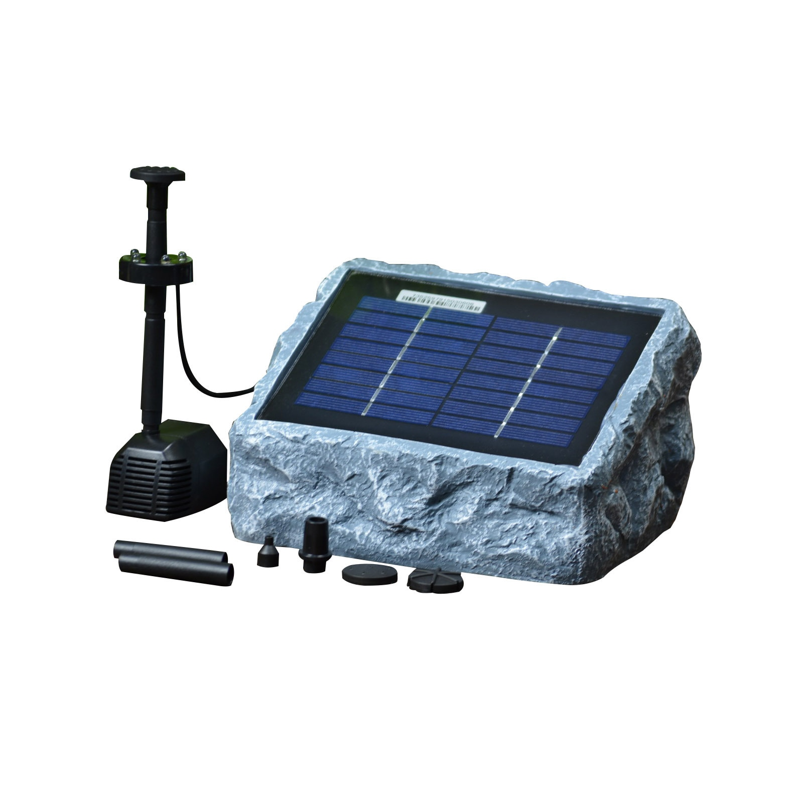 Lucent Solar Stone Water Pump Two (2) Watt with LED Light...