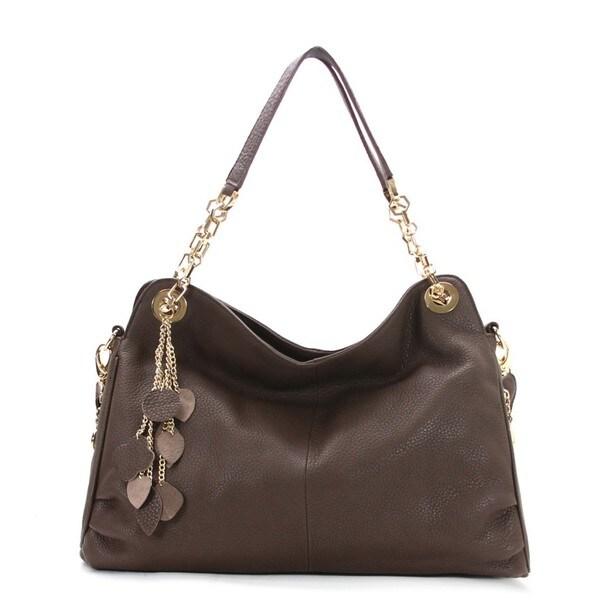 Chasse Wells Cerise Genuine Leather Tote Handbag
