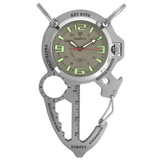 Dakota Men's Silver Multi Tool Clip Watch (Option: Silver)