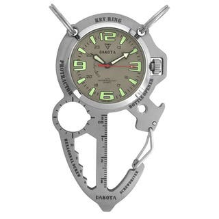 Dakota Men's Silver Multi Tool Clip Watch|https://ak1.ostkcdn.com/images/products/10769839/P17821688.jpg?impolicy=medium