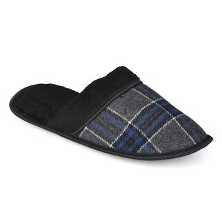 Vance Co. Men's Plaid Backless Slippers